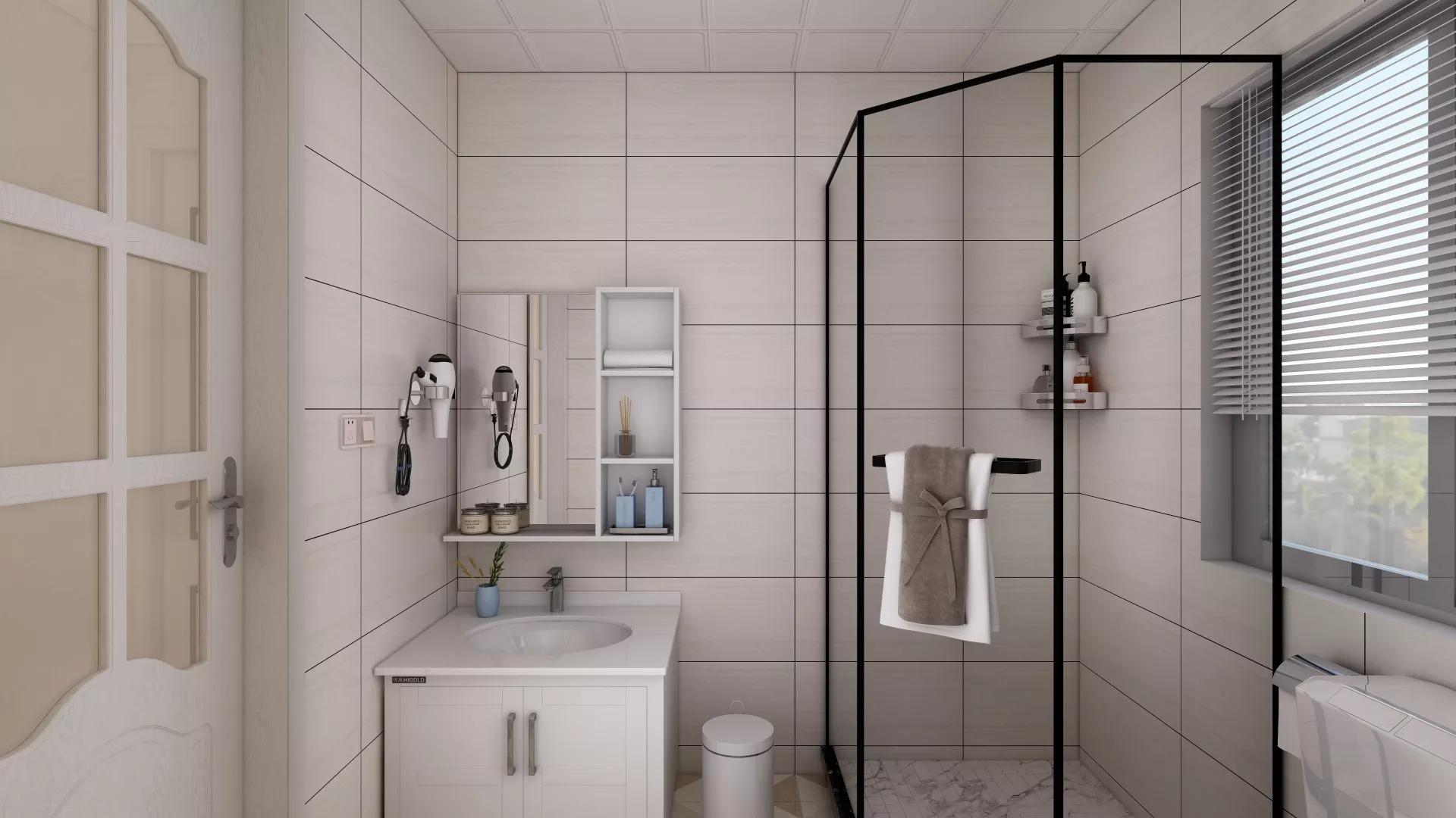 二居室简约美式风格家居装修效果图