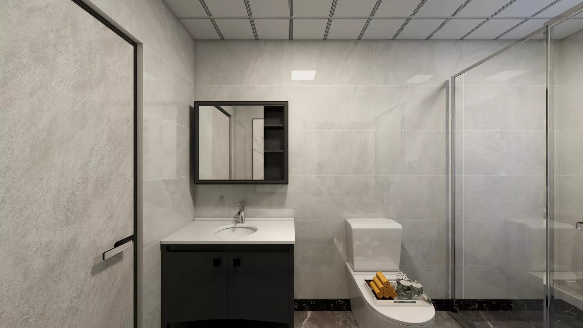 简洁大气风格别墅住宅客厅装修