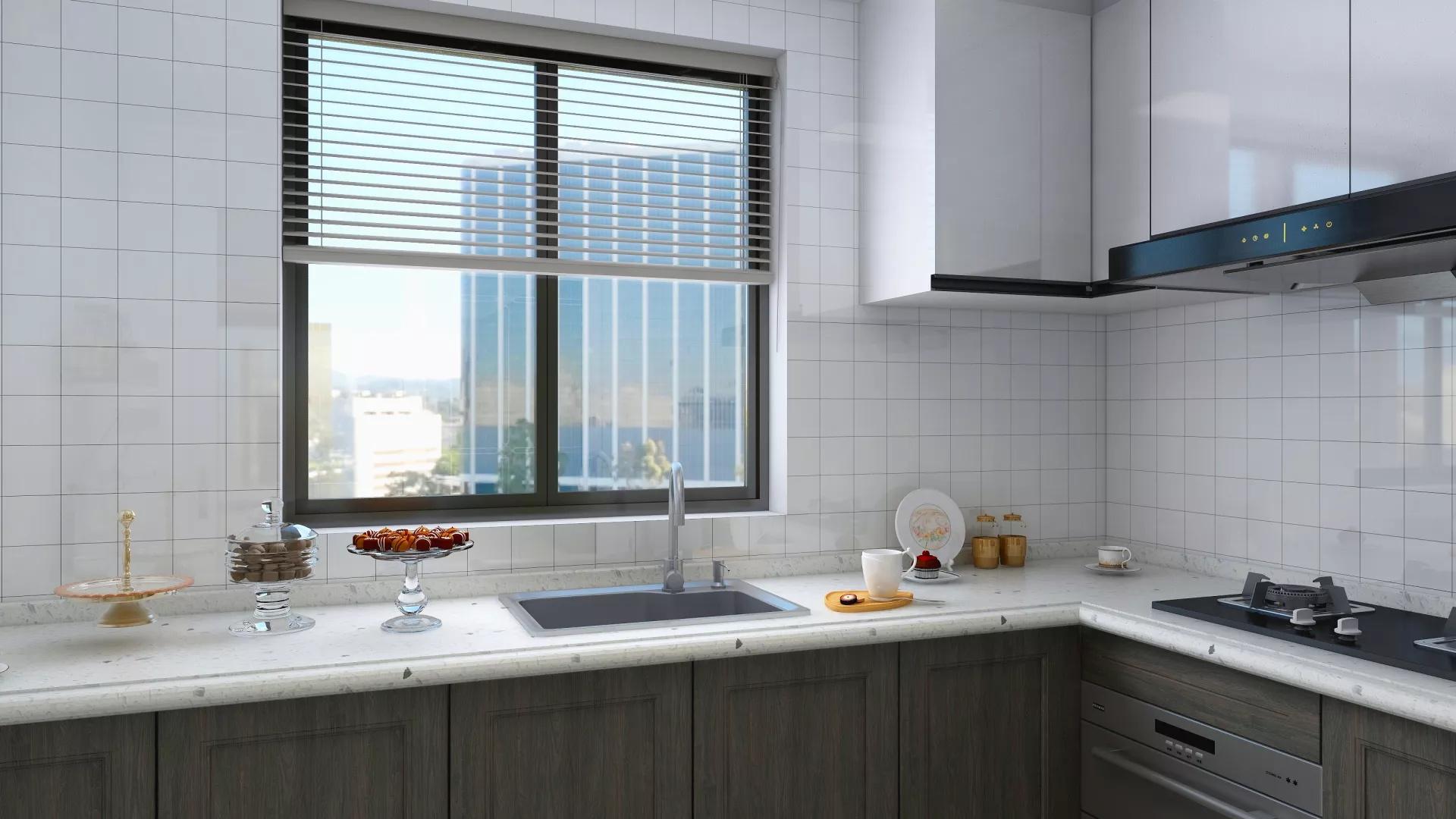 时尚简约小户型单身公寓创意家居装修效果图