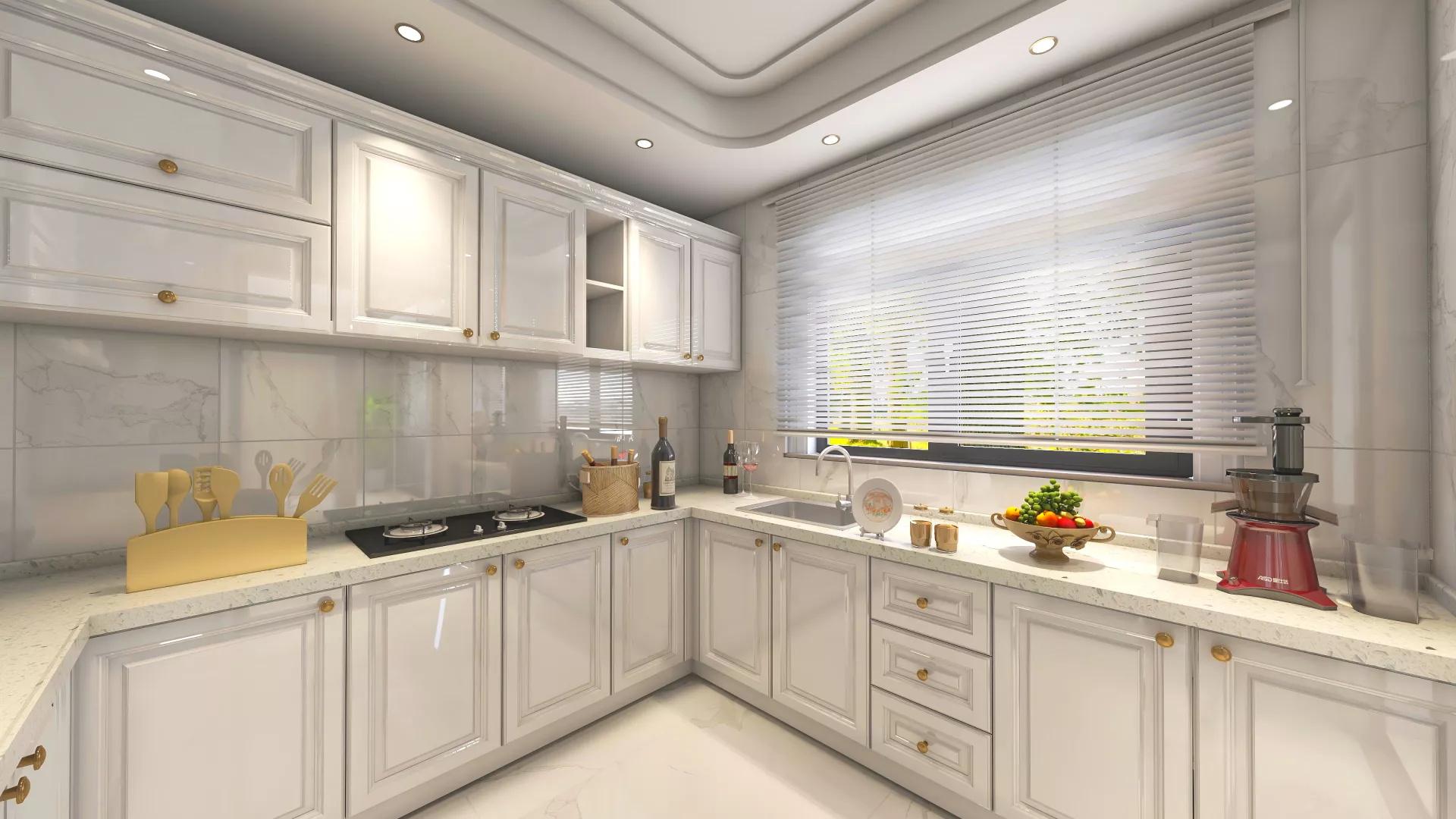 开放式厨房吧台设计效果图