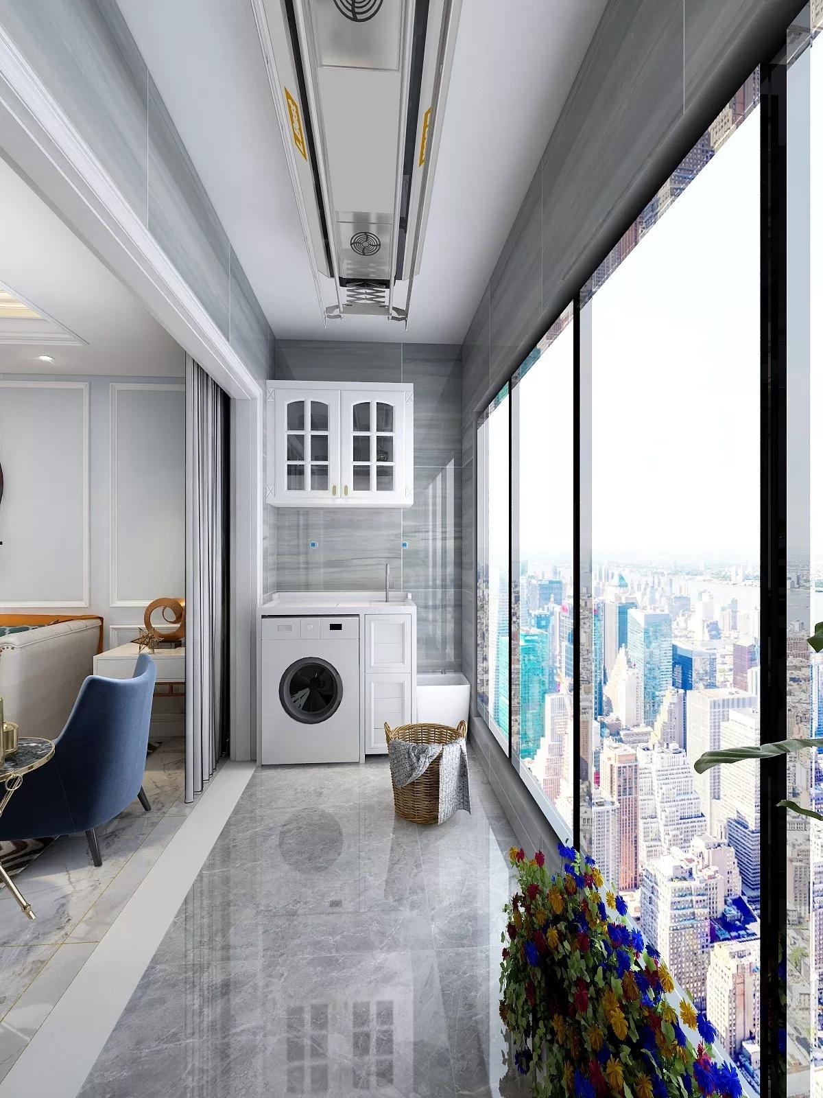 大户型美式风格现代家居装修设计效果图
