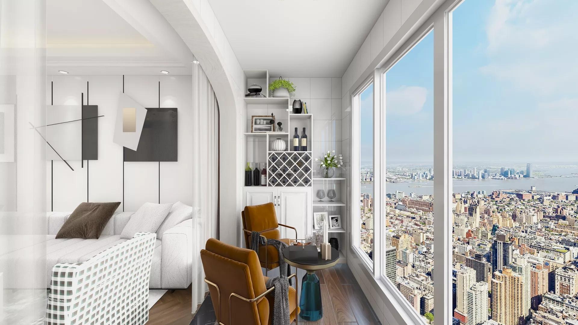 33平小户型北欧风格公寓装修效果图