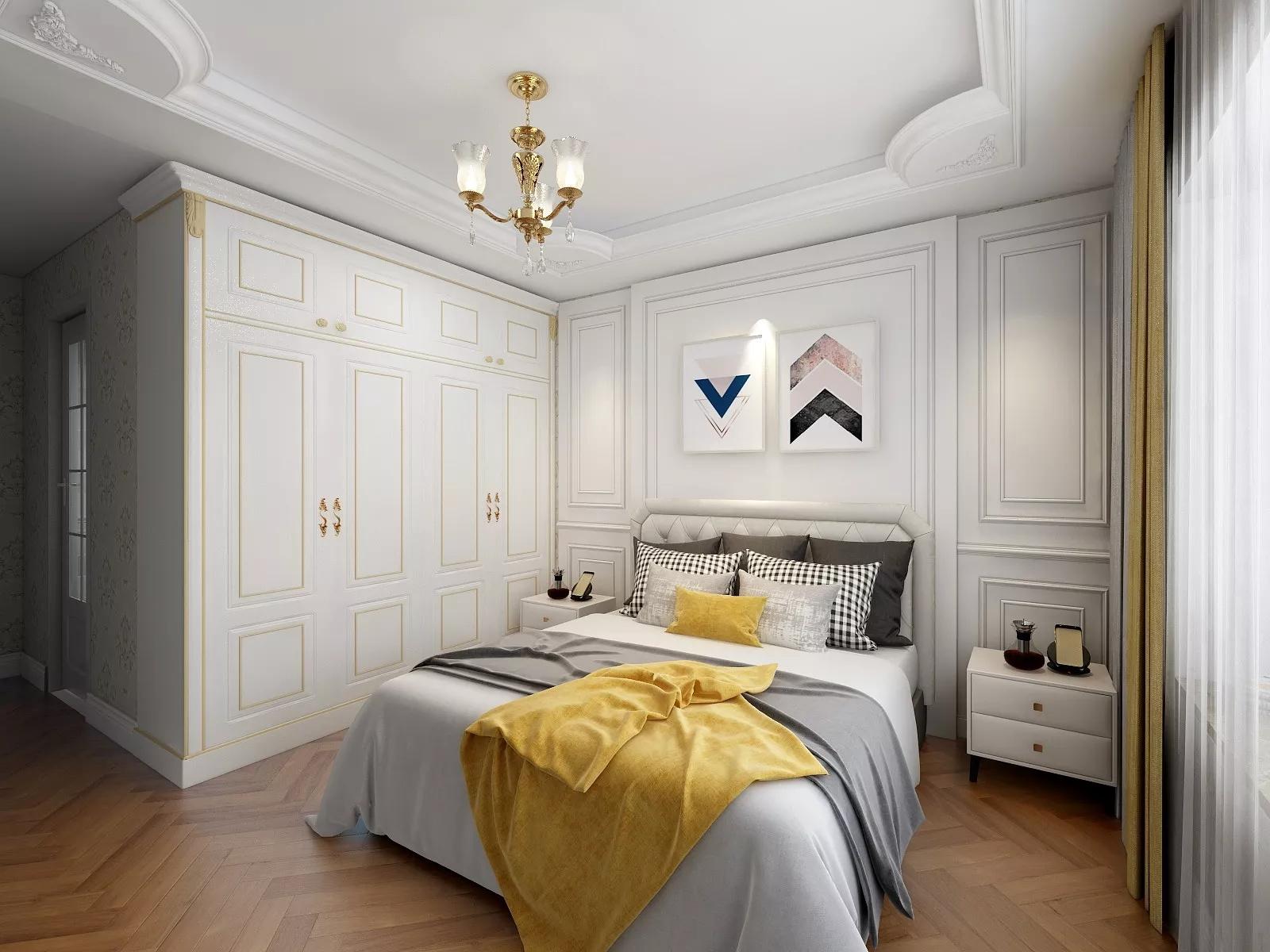 三居室现代美式风格家居装修效果图