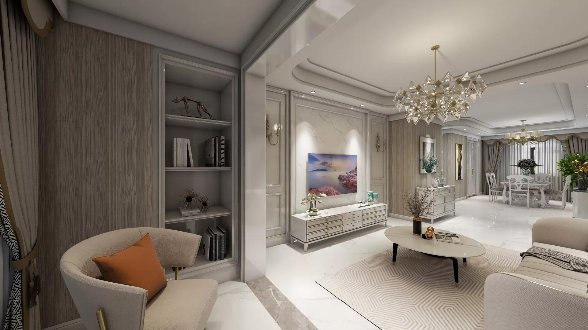 奢华复古欧式风家居装修设计效果图