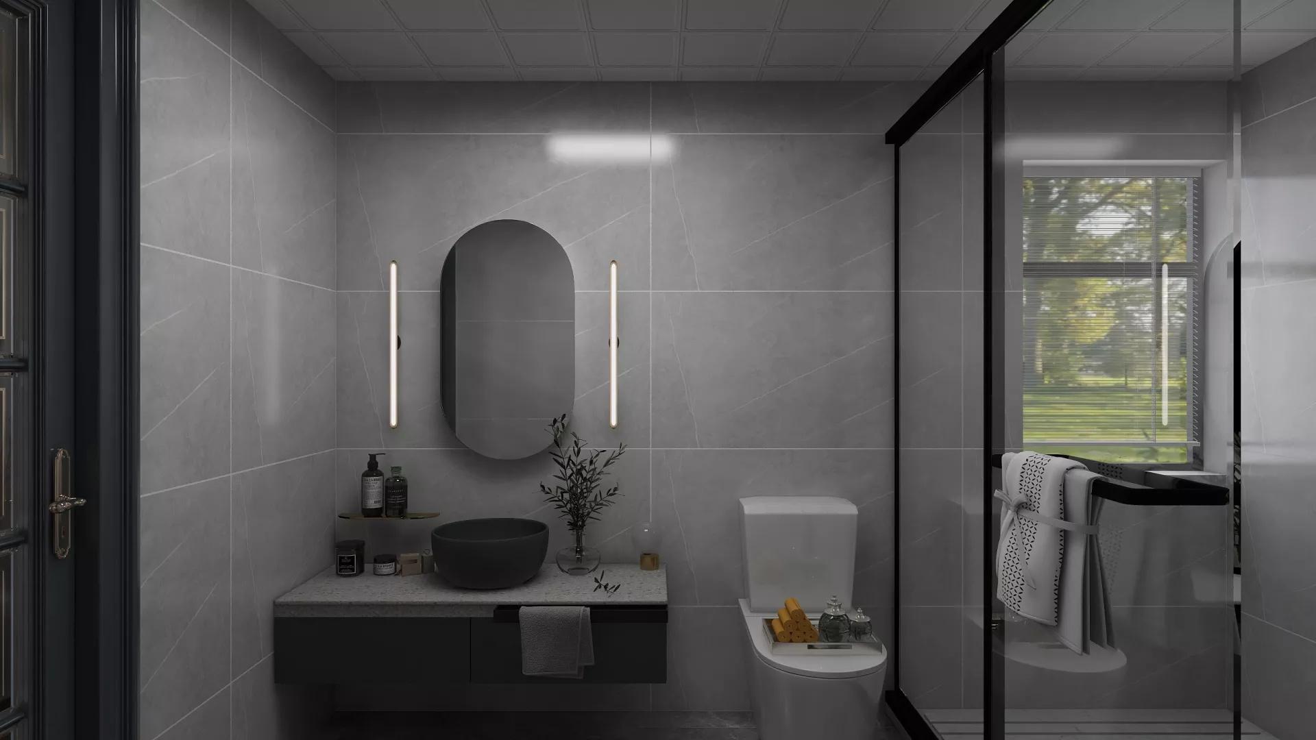 140平现代简约二居室装修设计效果图