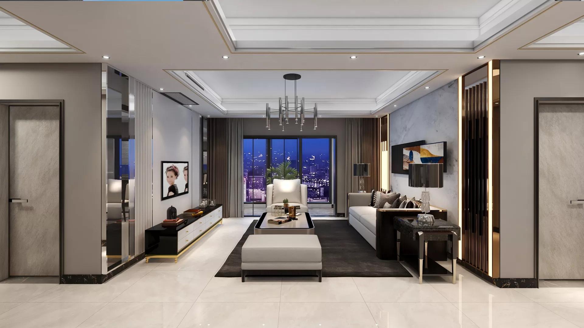 180㎡美式风格家居装修效果图