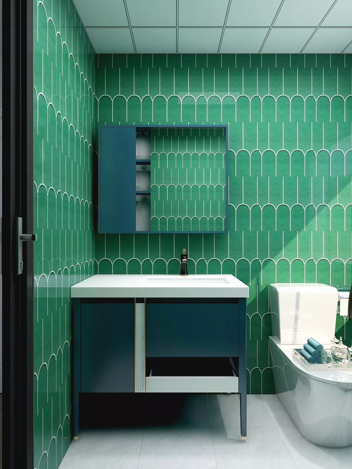 现代时尚简洁风格卫生间装修效果图