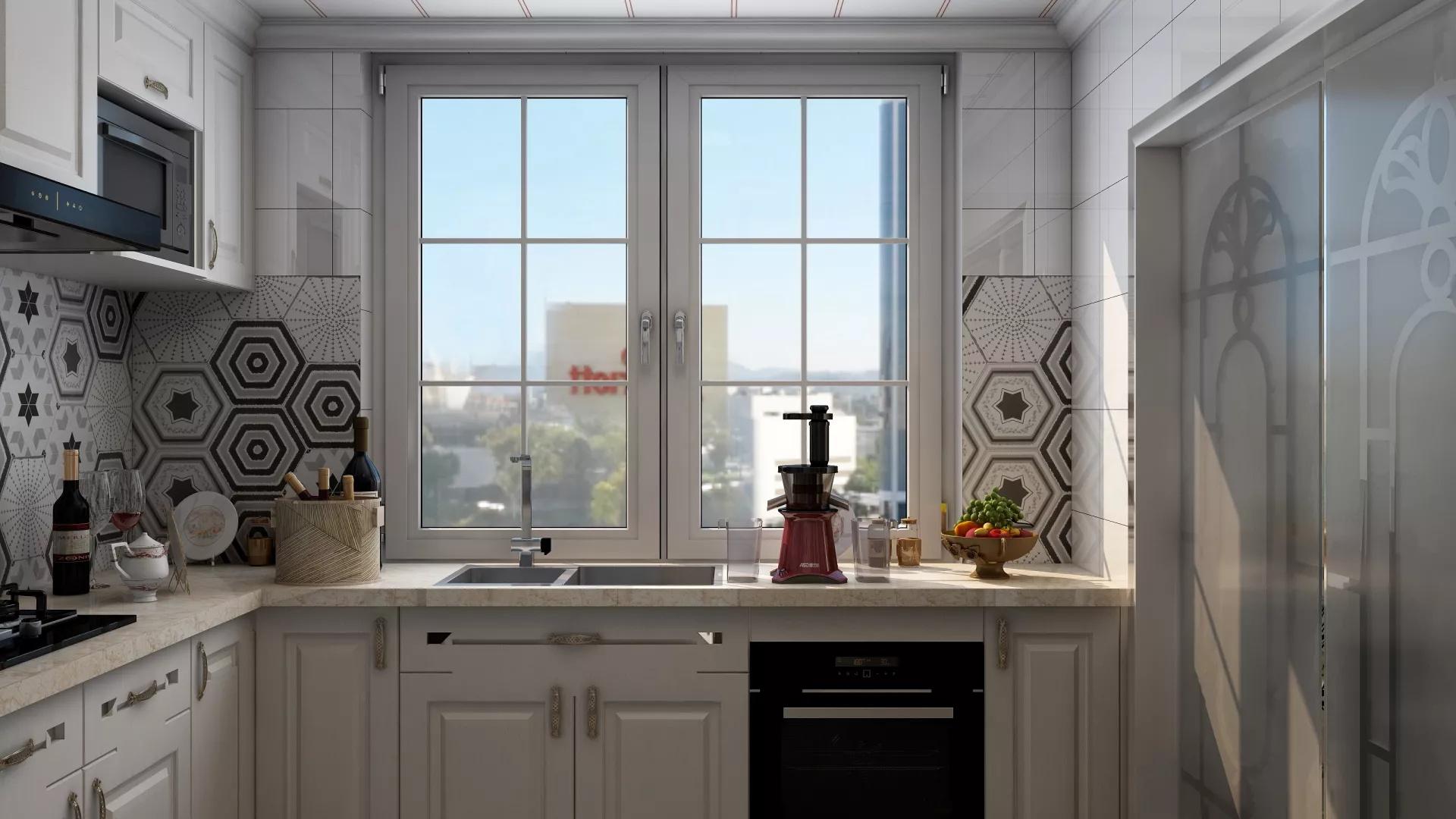 时尚大气风格高端公寓厨房装修