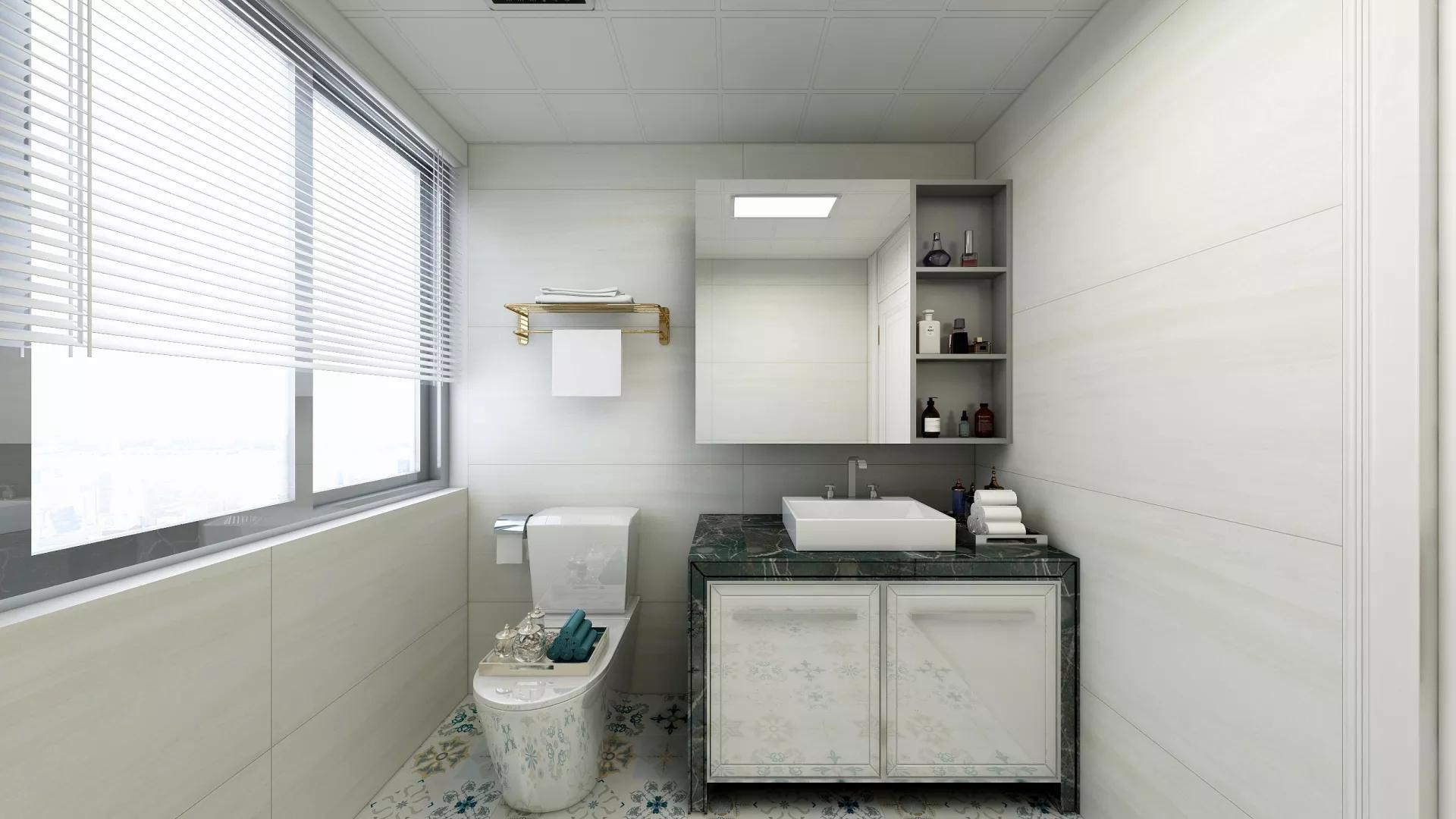 卫生间,简约风格,简洁,温馨