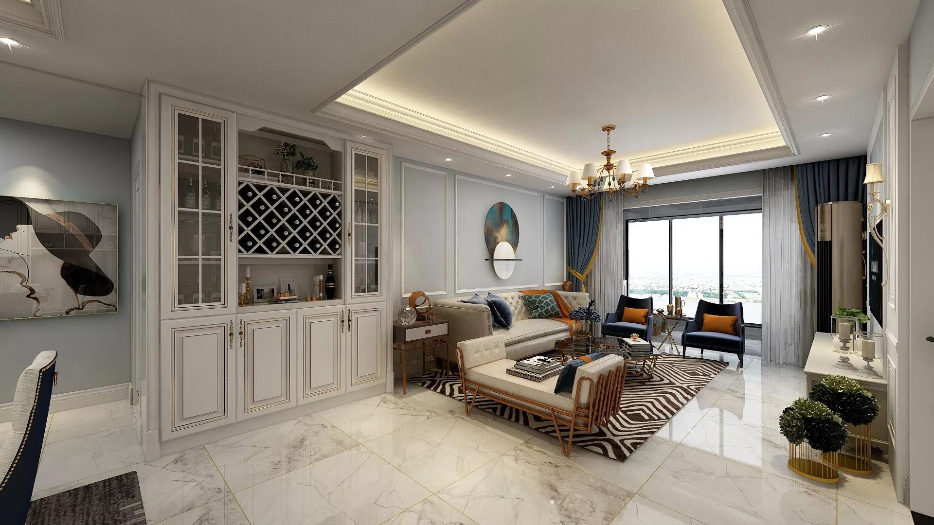 现代前卫风格大气奢华客厅装修效果图