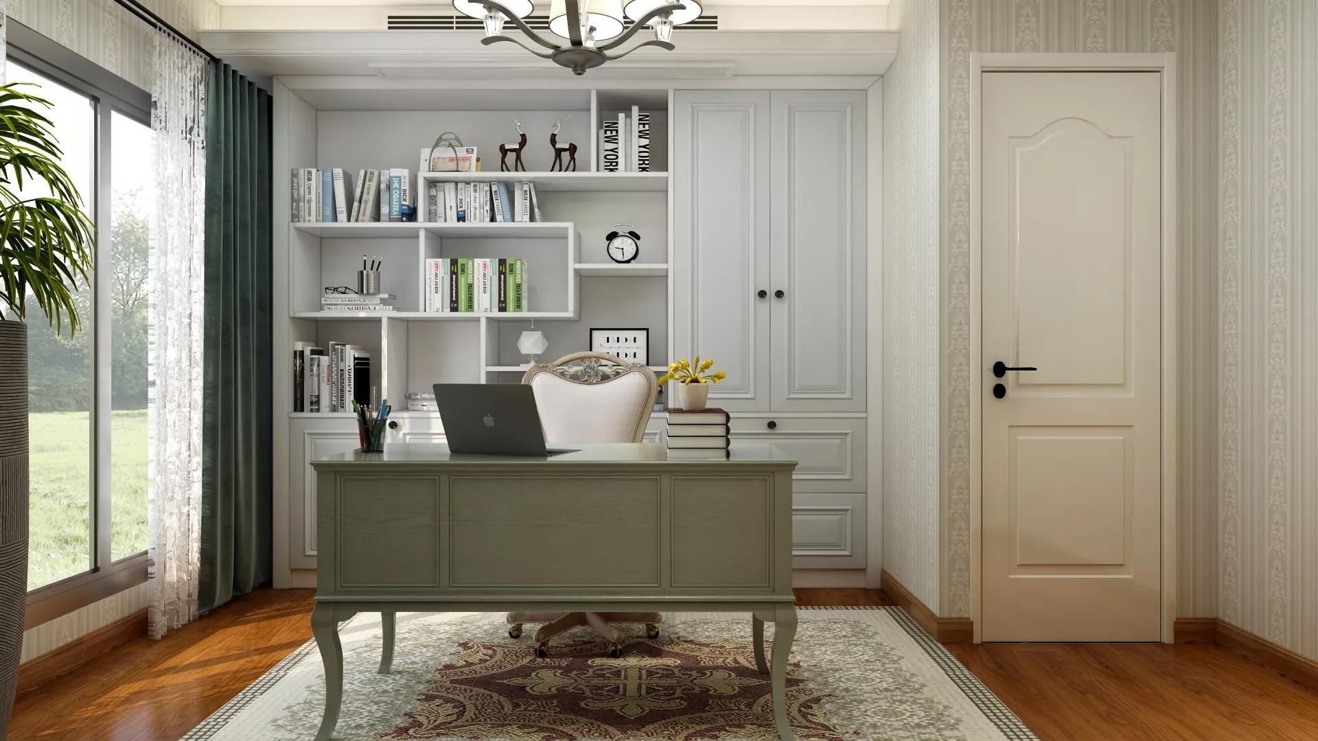 90㎡现代轻奢风小户型客厅设计效果图