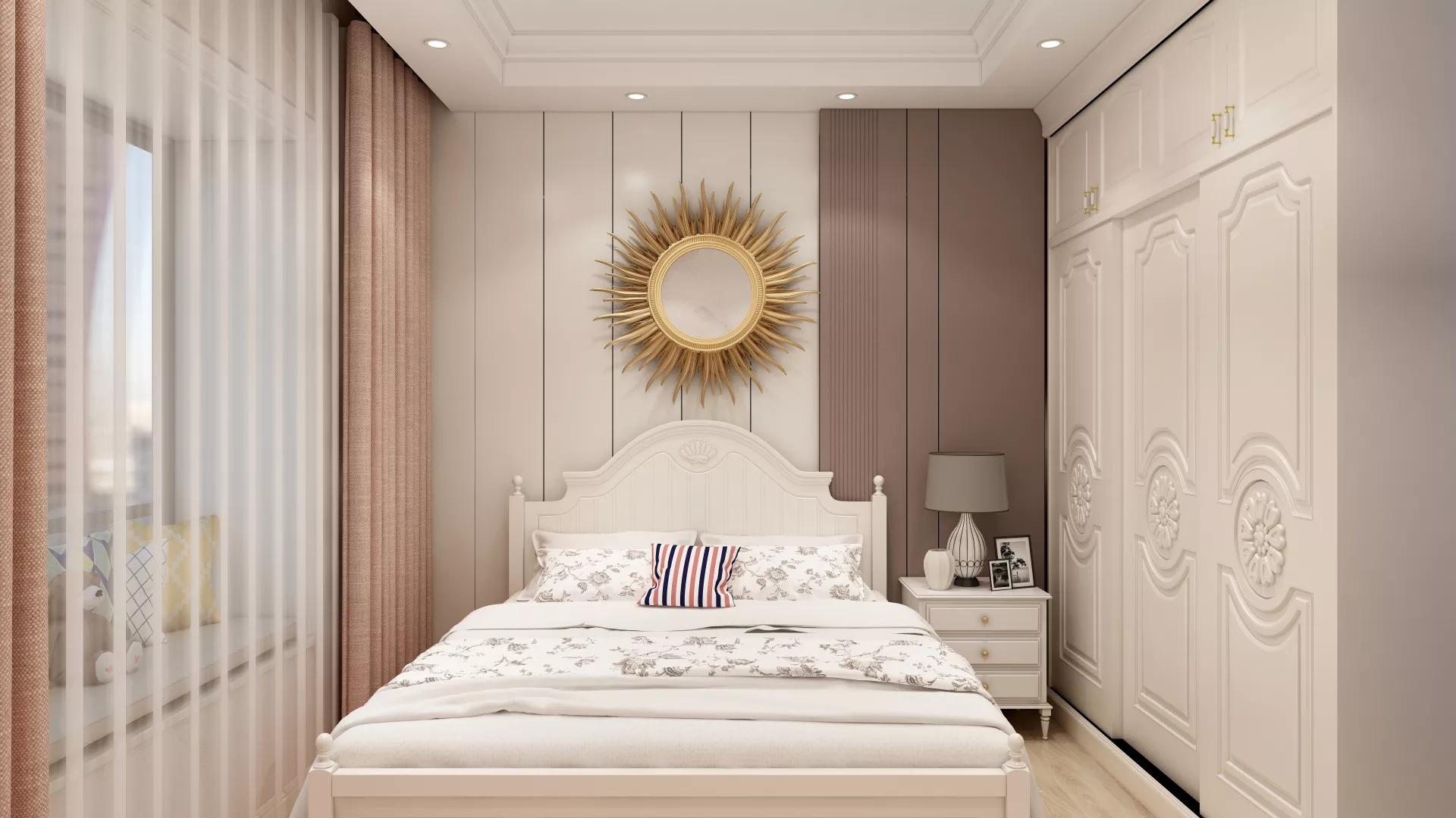 美式乡村风格浪漫型客厅装修效果图