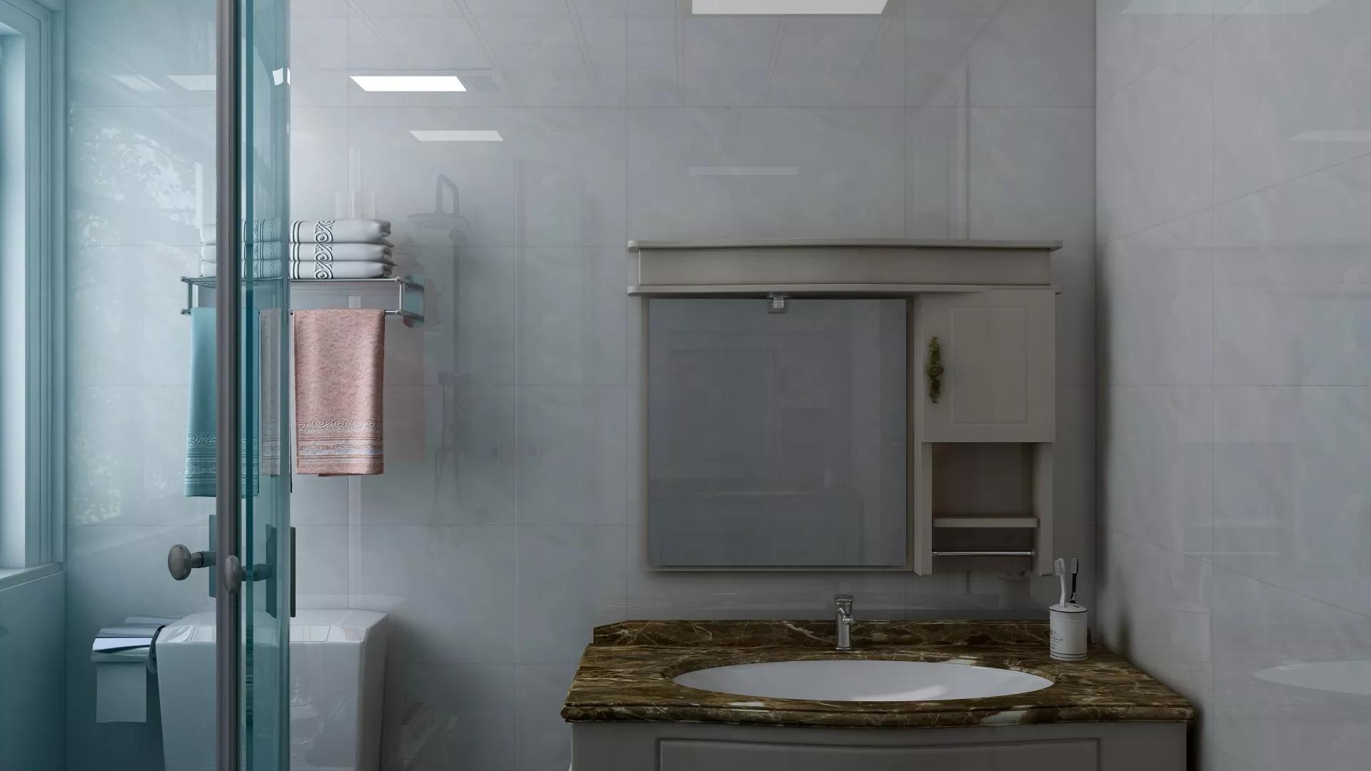时尚现代公寓家居卧室室内隔断设计图