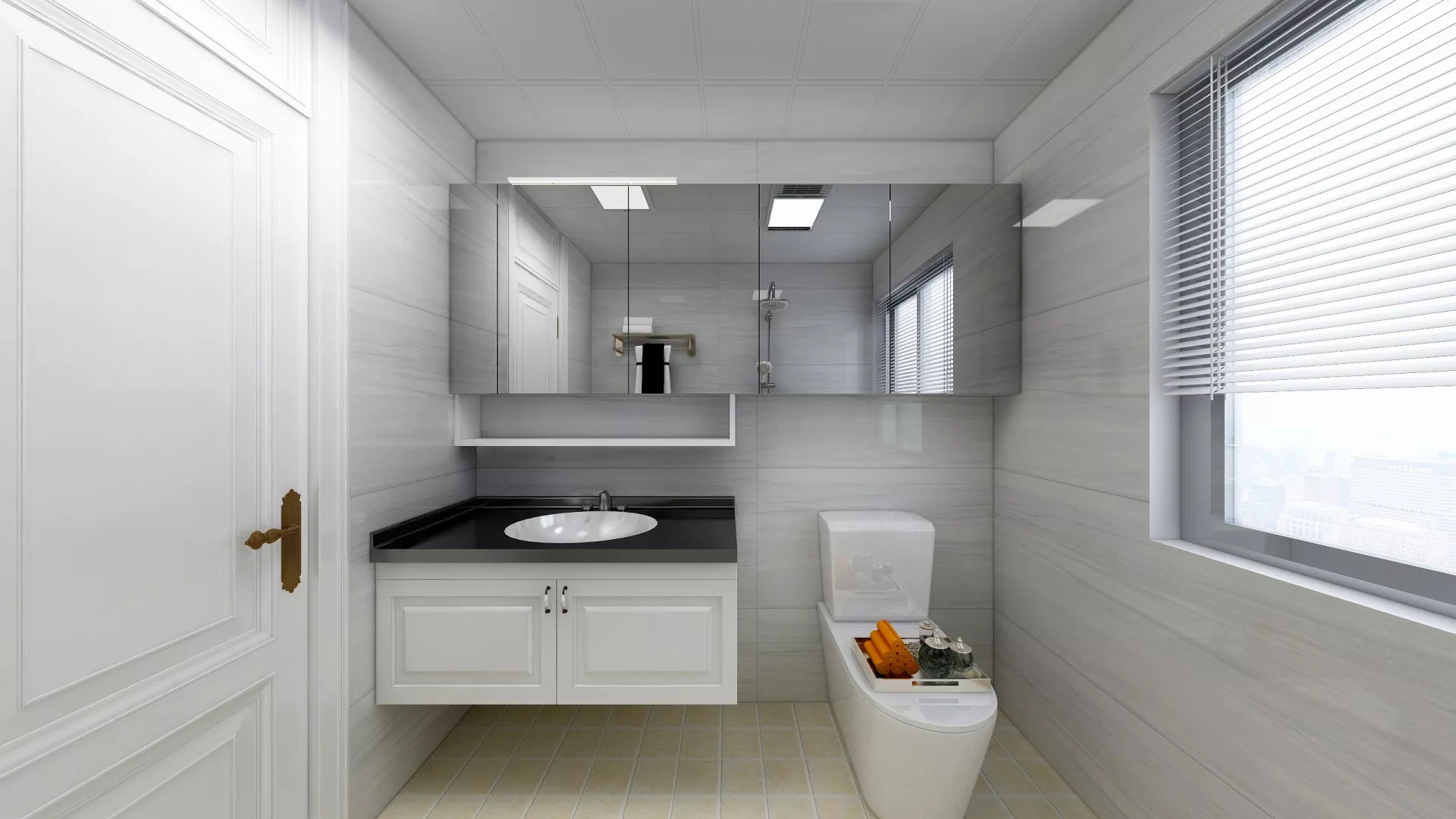 精致现代北欧风98平三居室样板房装修效果图