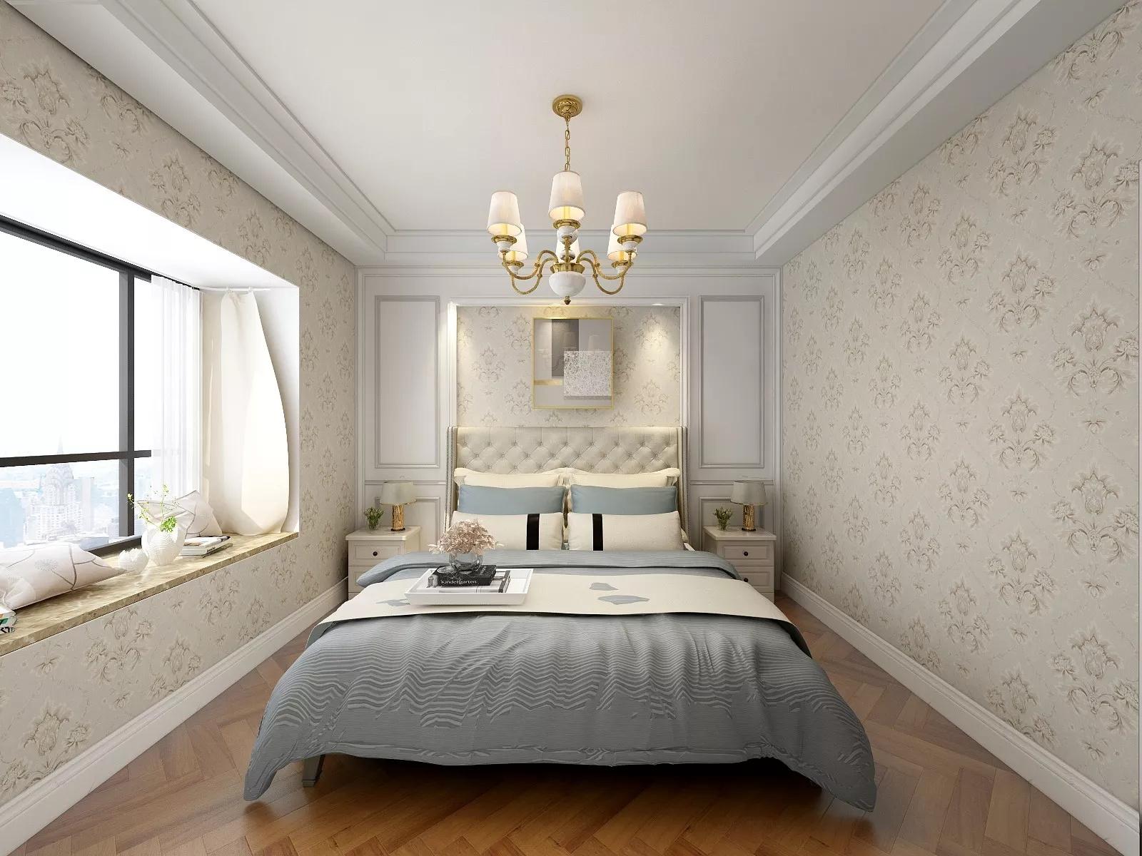 100㎡黑白现代简约样板房装修布局效果图