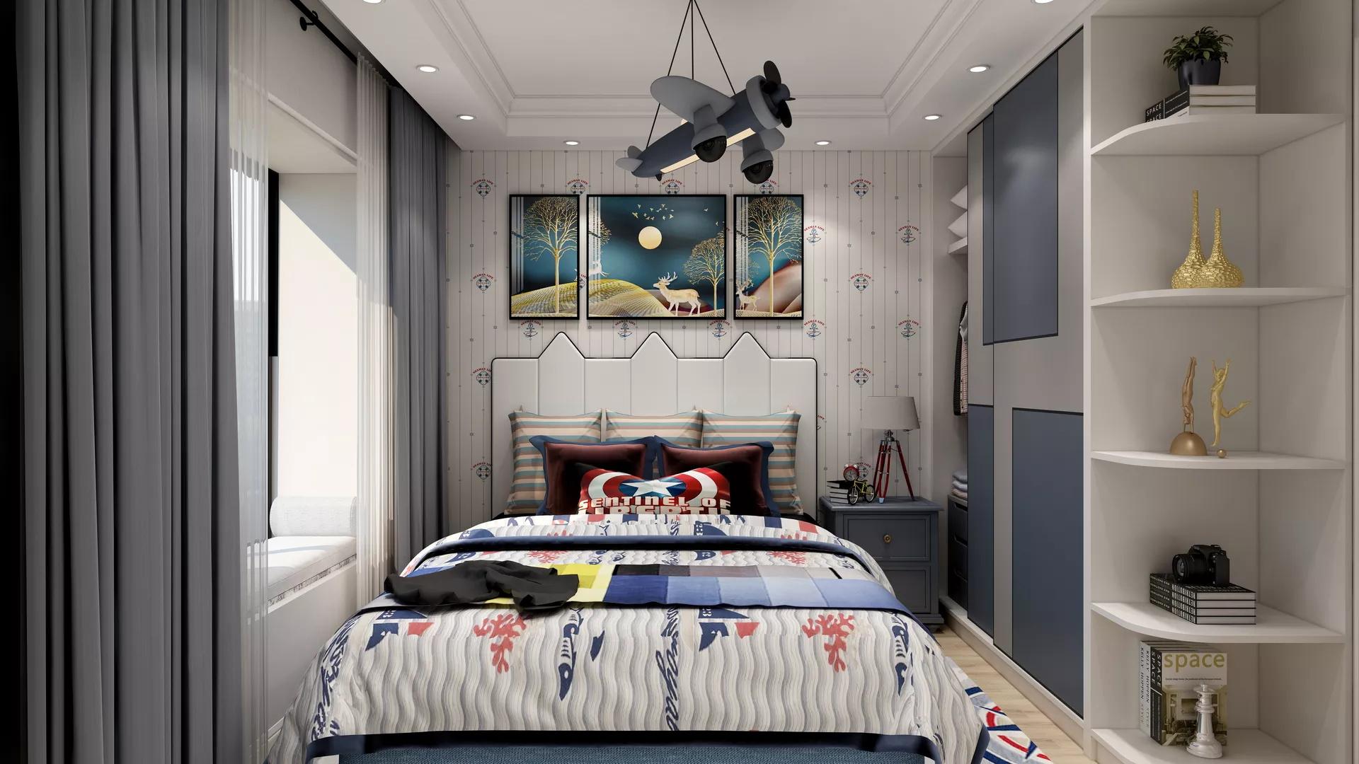 简约原木宜家风二居室装修设计效果图