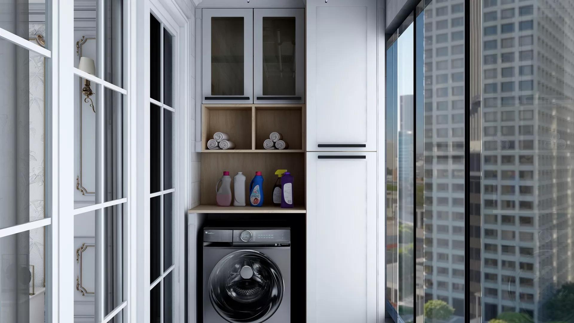 大户型新中式风格四居室装修全景效果图