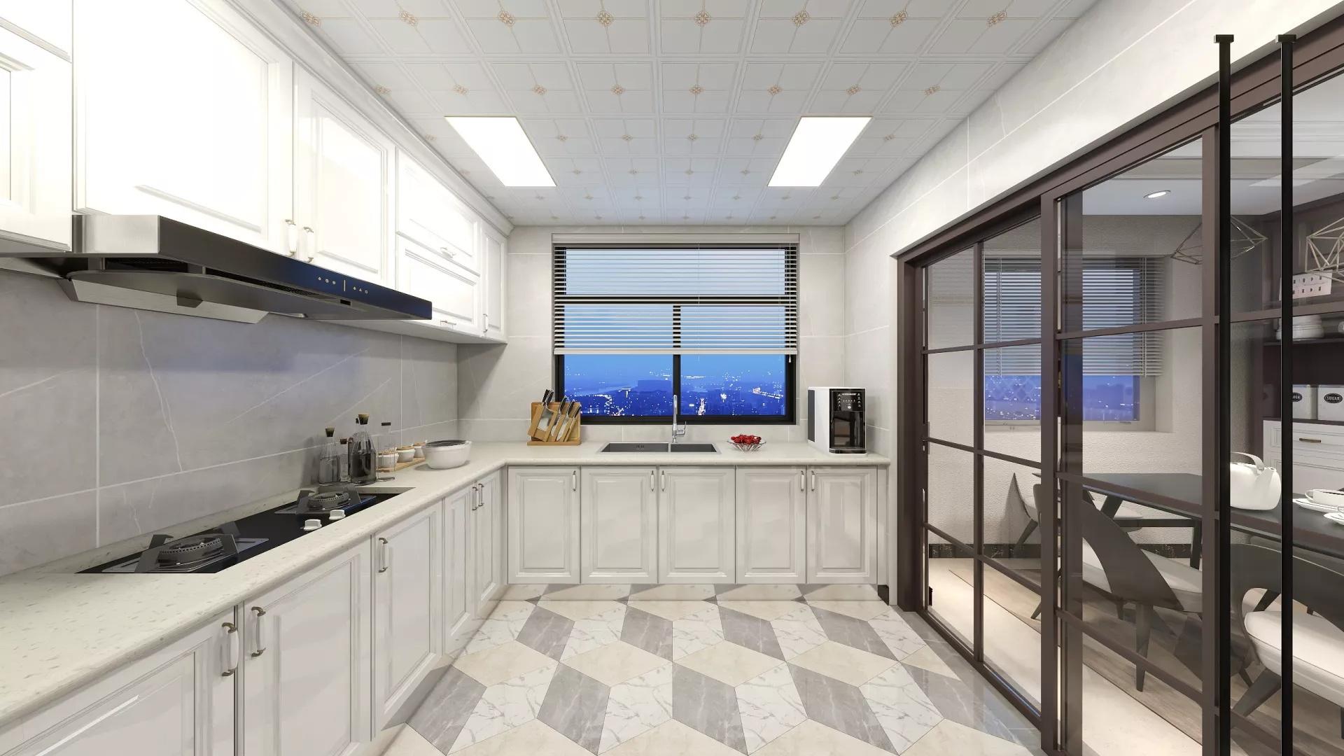 简洁温馨风格厨房装修效果图