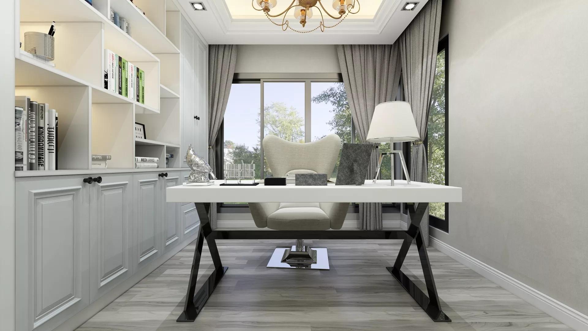 100㎡美式乡村风格三居室装修设计效果图