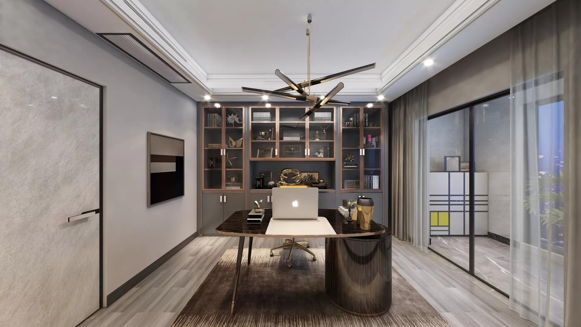 复式古典美式风格家居装修效果图