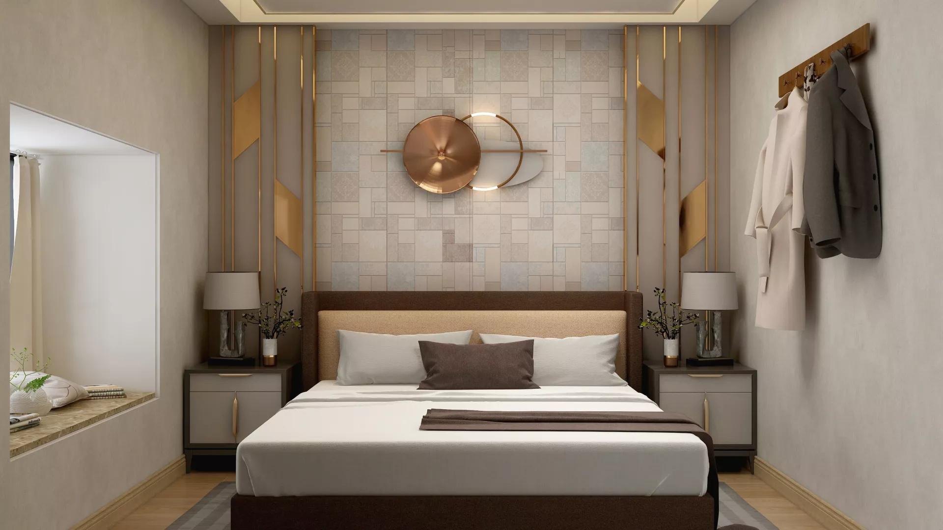 重彩复古美式混搭风格家居装修设计效果图