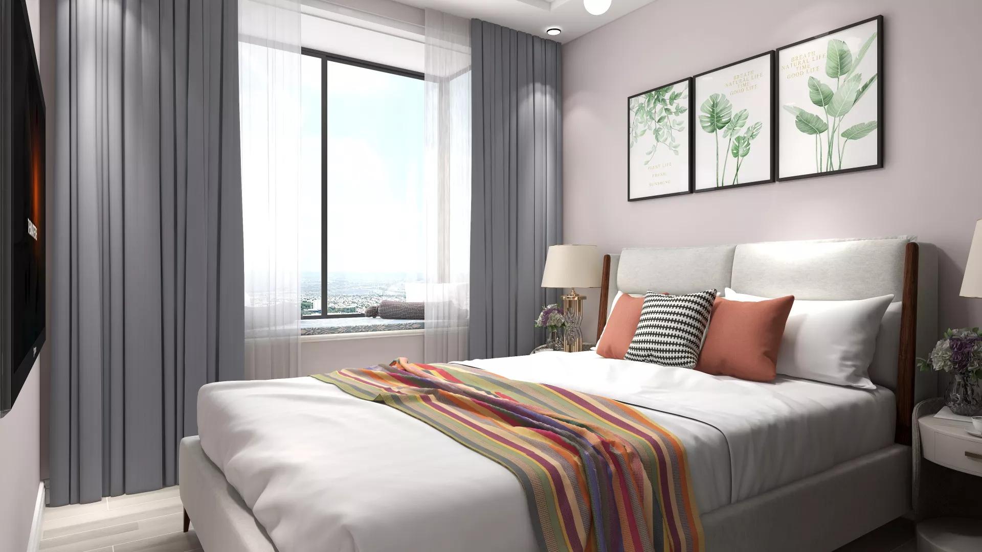 66㎡时尚简约风格小户型公寓装修效果图