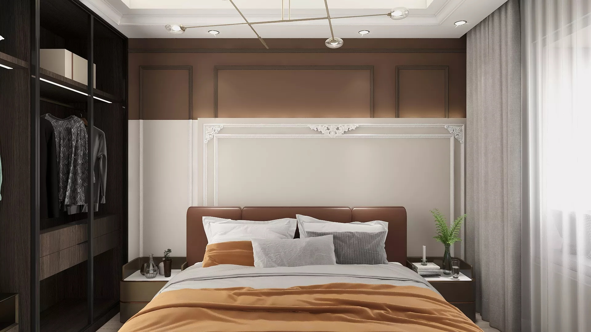 现代简约时尚优雅风格公寓装修设计效果图
