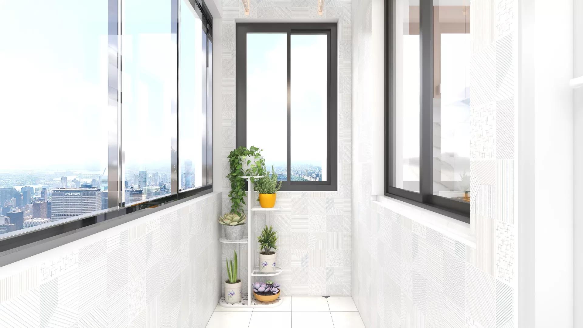 地中海美式混搭二居室装修设计效果图