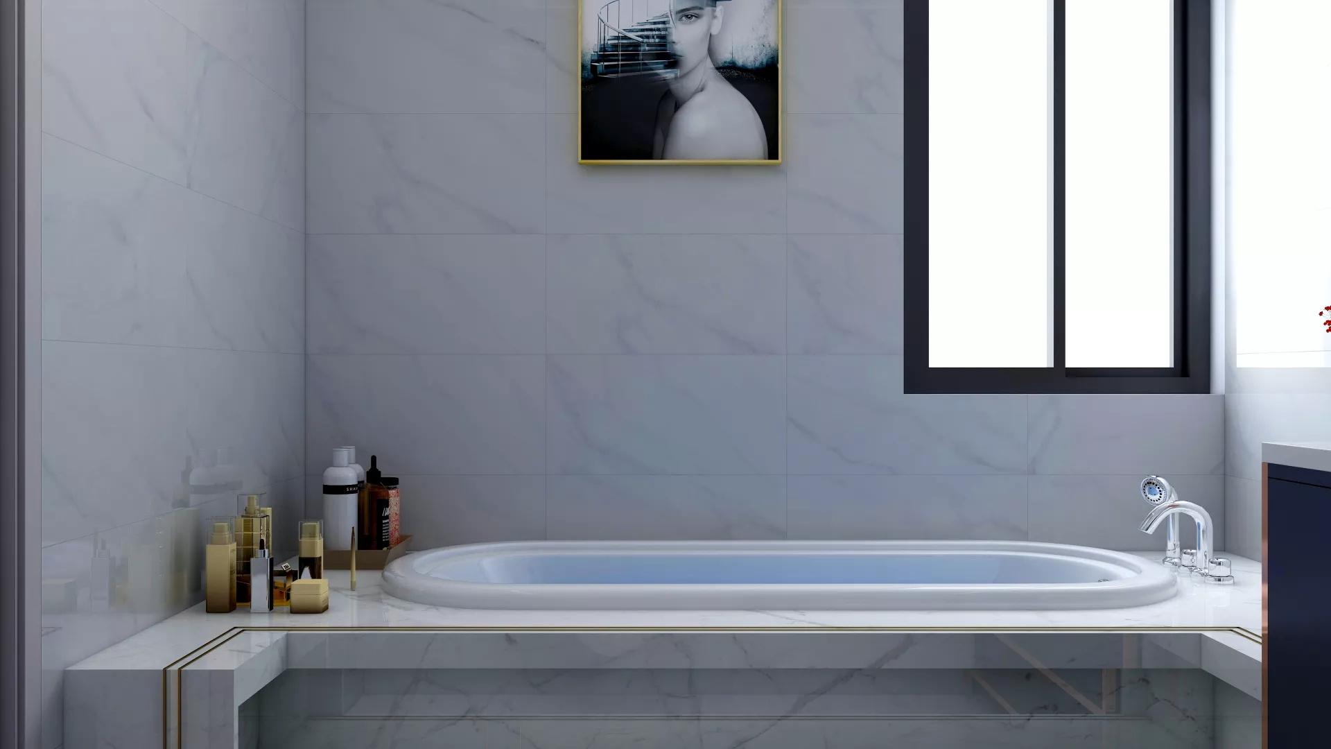 简洁温馨白色客厅装修效果图