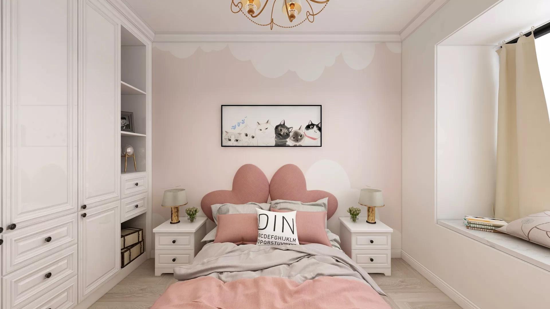 黑白简洁大气卧室装修效果图