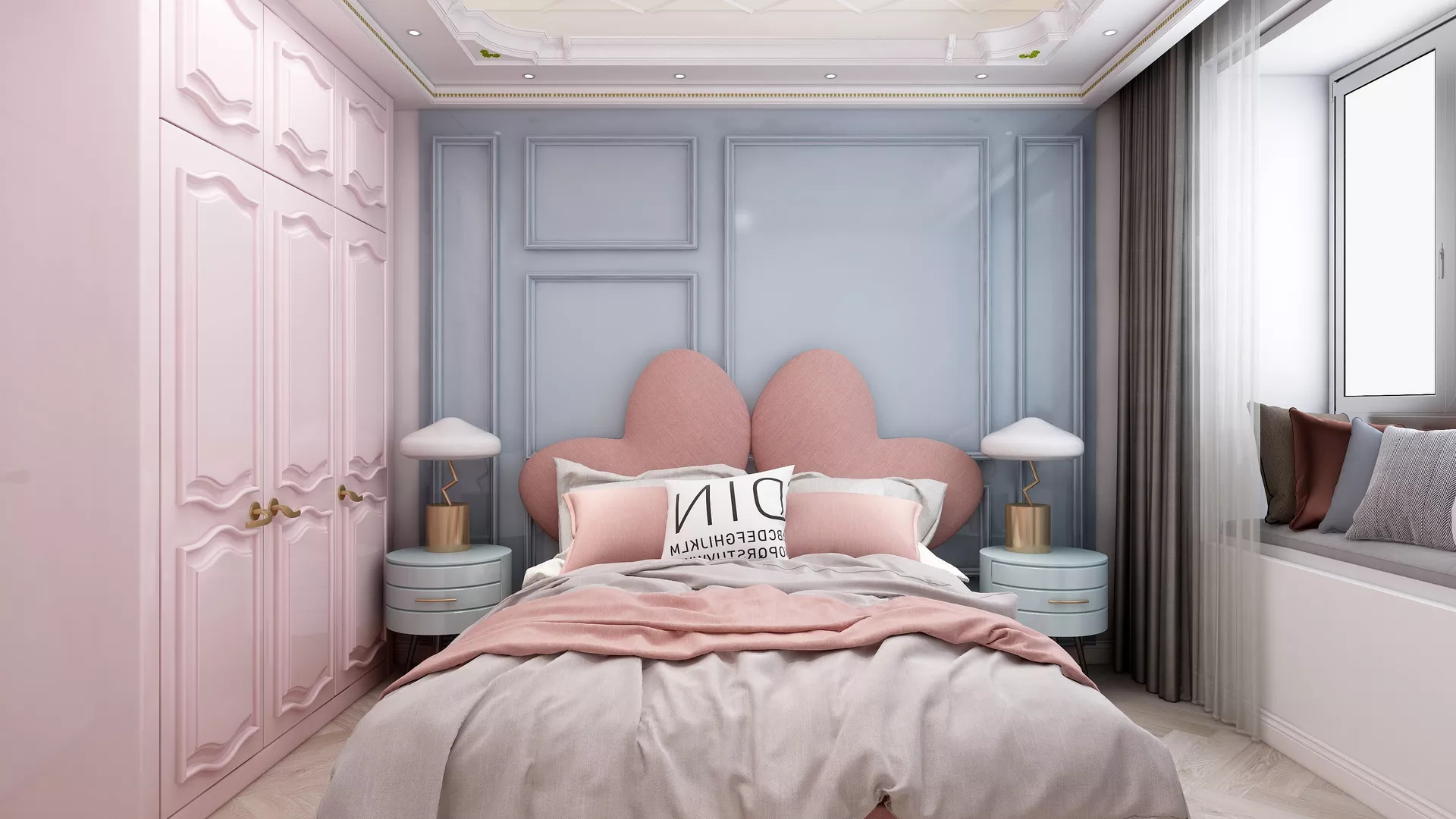 舒适简洁温馨风格卧室装修效果图