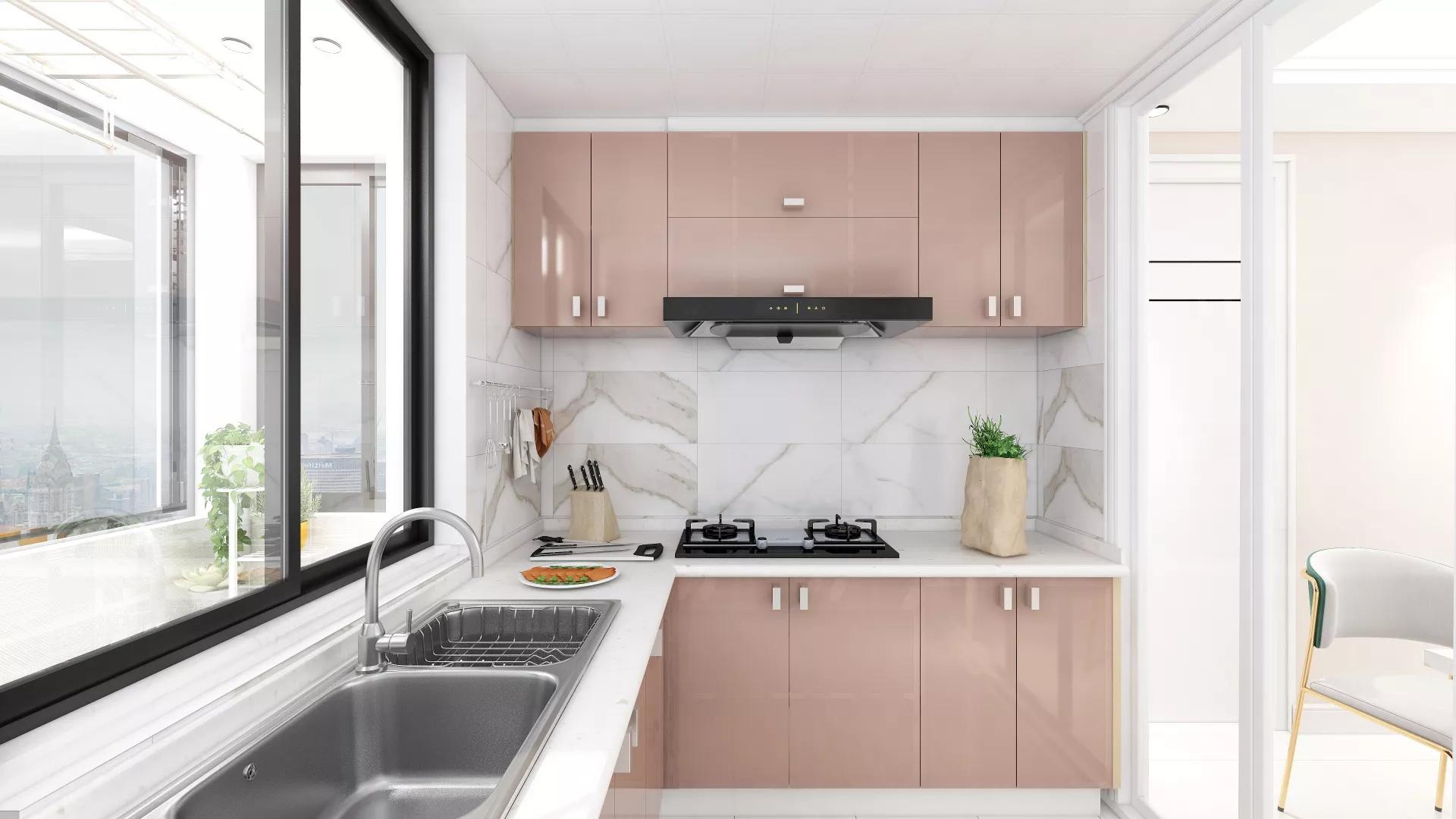舒适简约风格厨房装修效果图